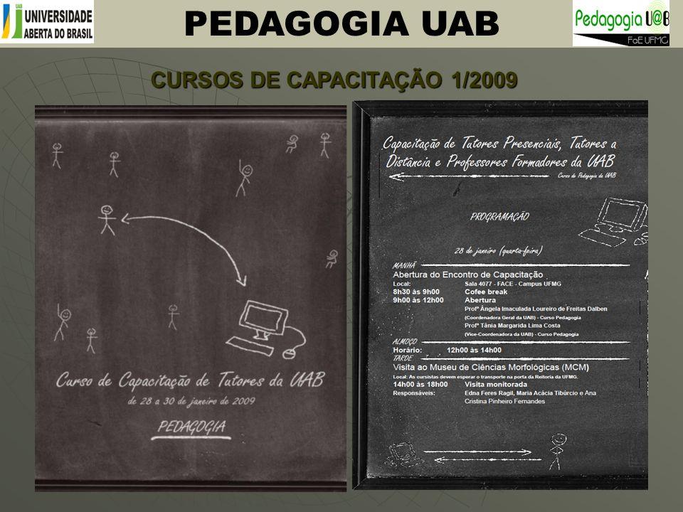 CURSOS DE CAPACITAÇÃO 1/2009 PEDAGOGIA UAB