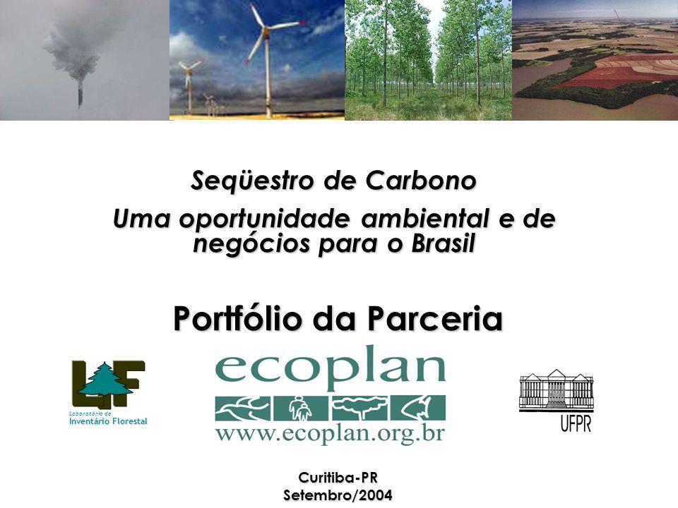 Portfólio da Parceria Curitiba-PR Setembro/2004 Seqüestro de Carbono Uma oportunidade ambiental e de negócios para o Brasil Laboratório de Inventário Florestal