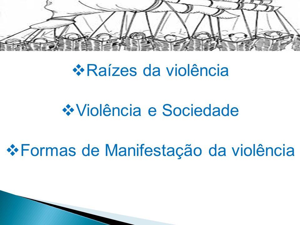 Raízes da violência Violência e Sociedade Formas de Manifestação da violência