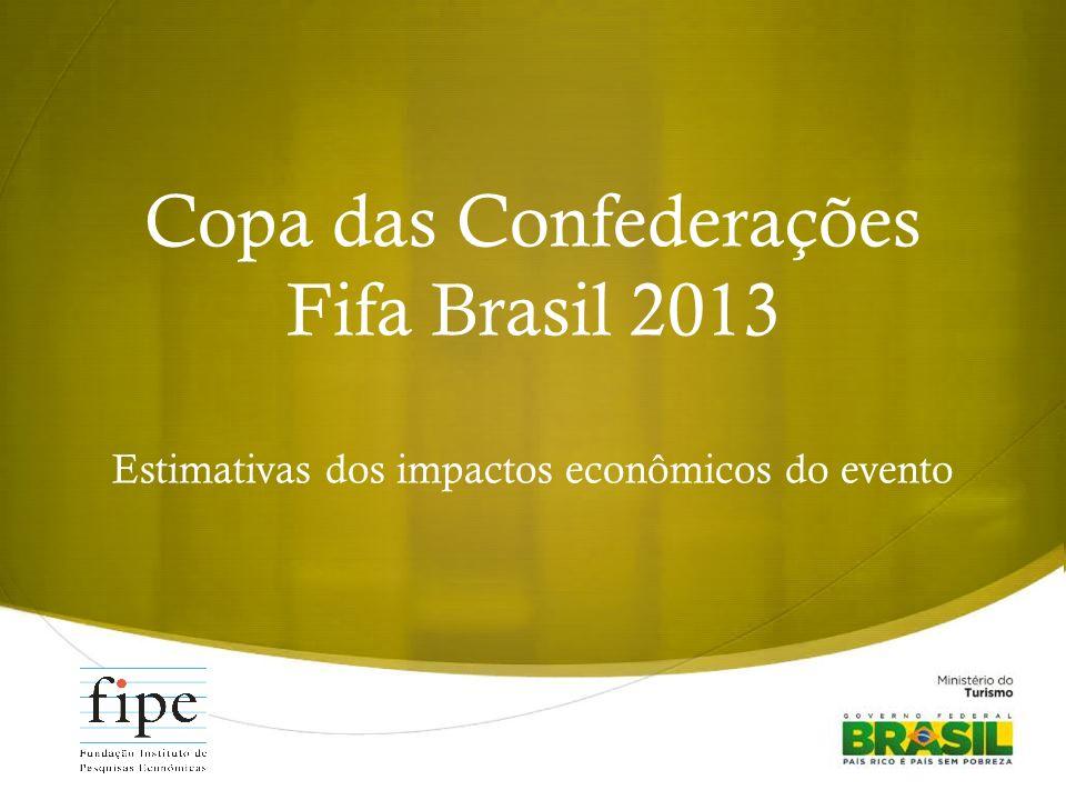 Copa das Confederações Fifa Brasil 2013 Estimativas dos impactos econômicos do evento