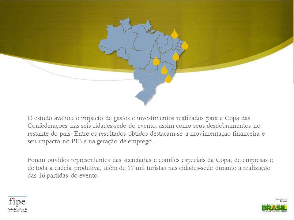 O estudo avaliou o impacto de gastos e investimentos realizados para a Copa das Confederações nas seis cidades-sede do evento, assim como seus desdobramentos no restante do país.