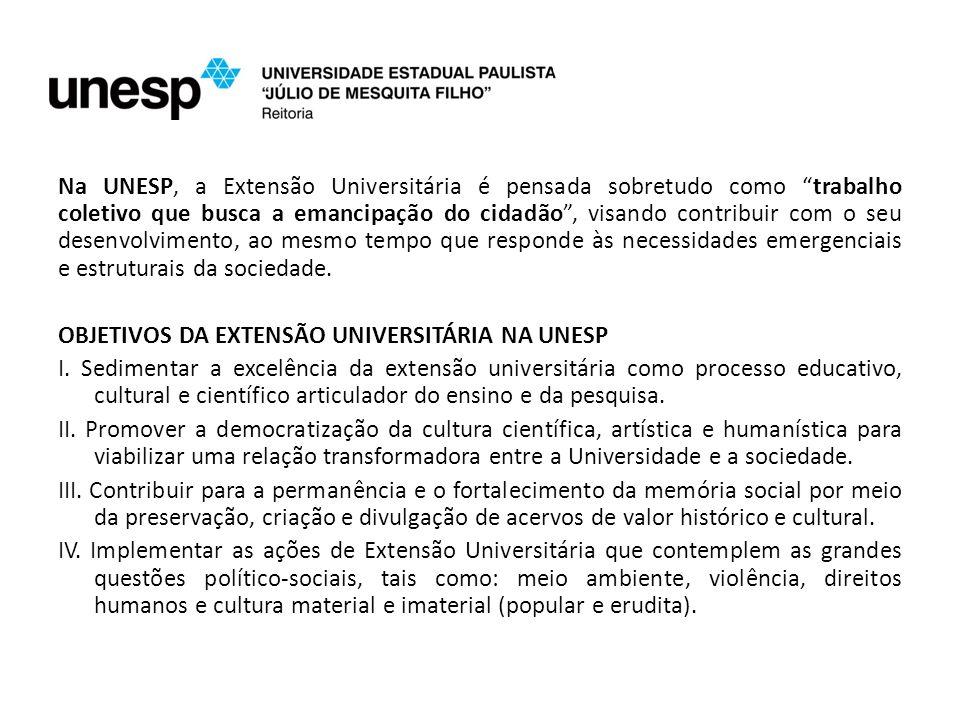 A partir de 2000, a Extensão Universitária na UNESP ganhou a estrutura que existe atualmente.