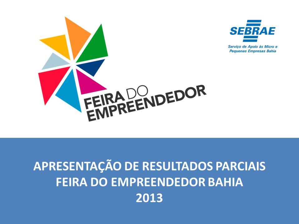 APRESENTAÇÃO DE RESULTADOS PARCIAIS FEIRA DO EMPREENDEDOR BAHIA 2013