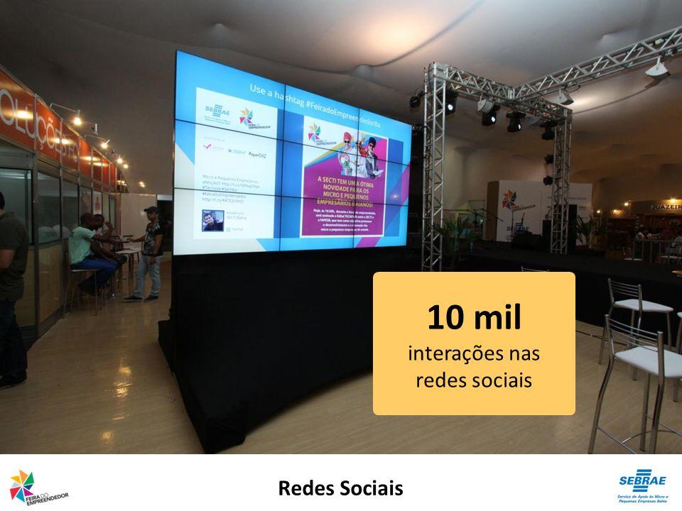 Redes Sociais 10 mil interações nas redes sociais