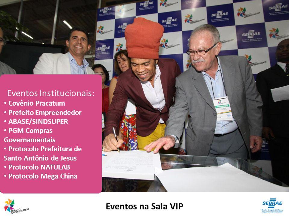 Eventos na Sala VIP Eventos Institucionais: Covênio Pracatum Prefeito Empreendedor ABASE/SINDSUPER PGM Compras Governamentais Protocolo Prefeitura de