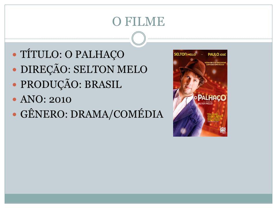 O FILME TÍTULO: O PALHAÇO DIREÇÃO: SELTON MELO PRODUÇÃO: BRASIL ANO: 2010 GÊNERO: DRAMA/COMÉDIA