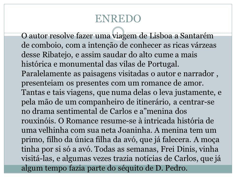 ENREDO O autor resolve fazer uma viagem de Lisboa a Santarém de comboio, com a intenção de conhecer as ricas várzeas desse Ribatejo, e assim saudar do