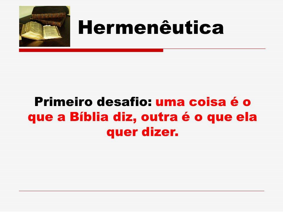 Hermenêutica Objeto de Estudo da HB