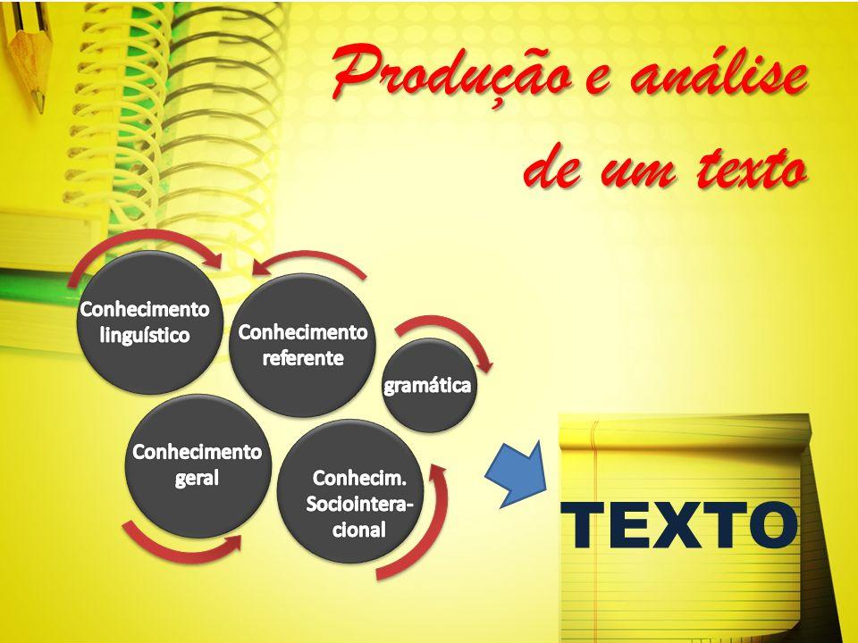 Produçãoe análise de um texto Produção e análise de um texto TEXTO