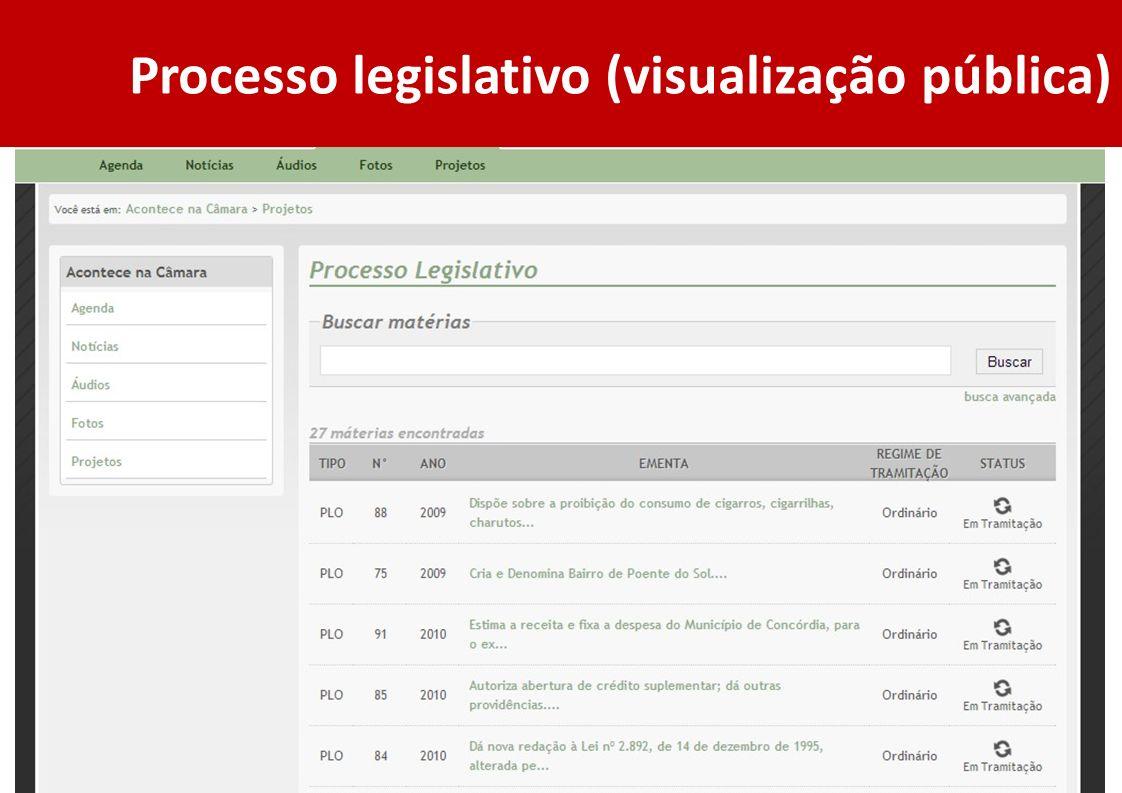 Processo legislativo (visualização pública)