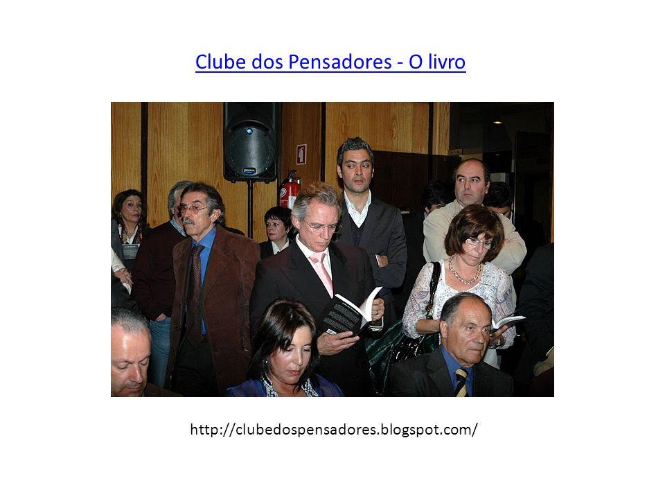 Clube dos Pensadores - O livro http://clubedospensadores.blogspot.com/