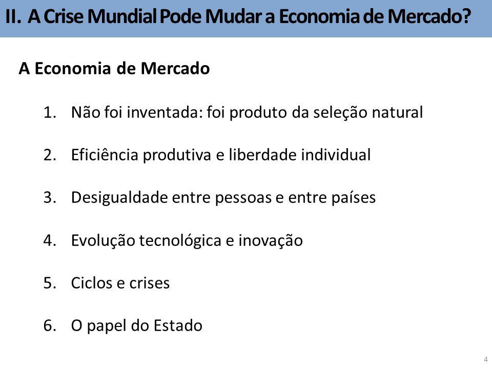 II.A Crise Mundial Pode Mudar a Economia de Mercado.