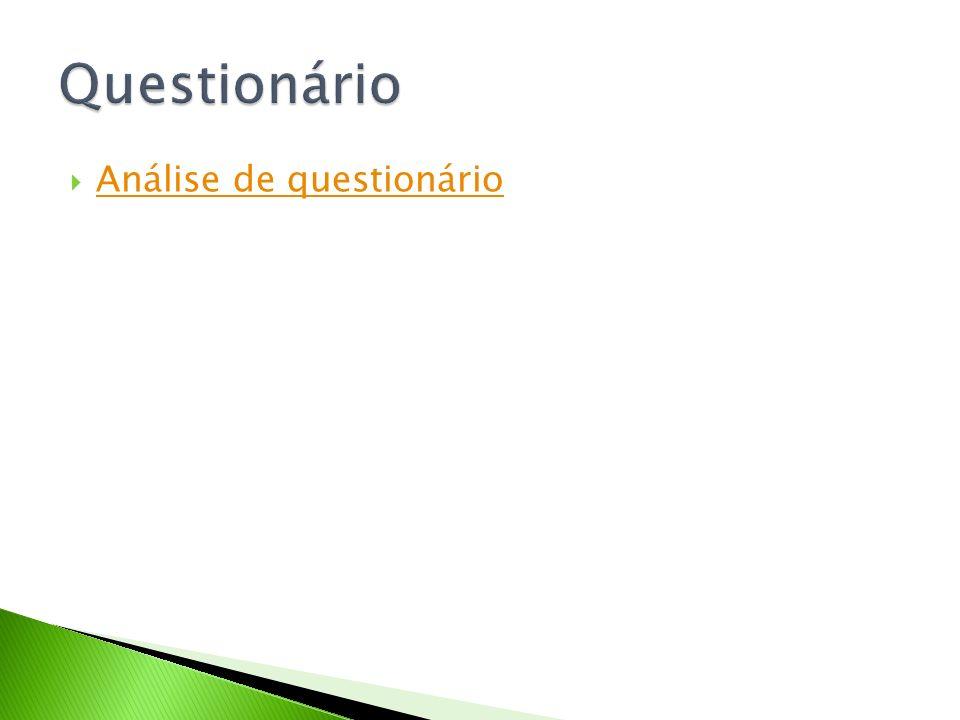Análise de questionário