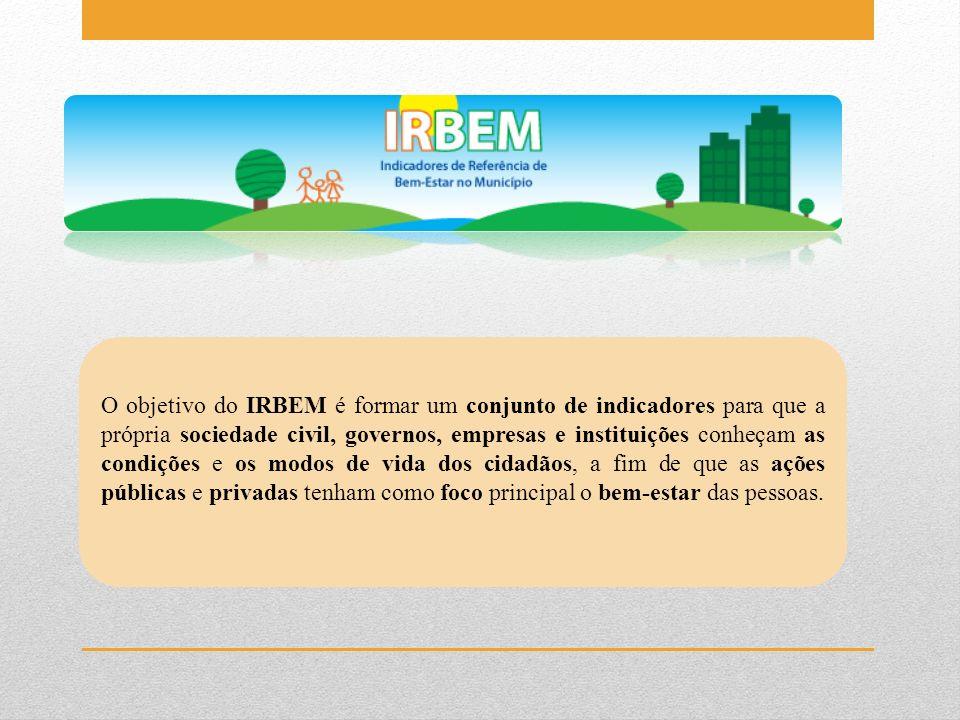 O objetivo do IRBEM é formar um conjunto de indicadores para que a própria sociedade civil, governos, empresas e instituições conheçam as condições e