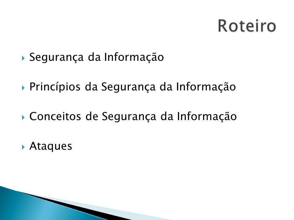 Segurança da Informação Princípios da Segurança da Informação Conceitos de Segurança da Informação Ataques