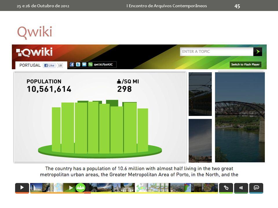 Qwiki 25 e 26 de Outubro de 2012I Encontro de Arquivos Contemporâneos 45