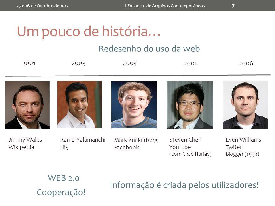 Documentos 25 e 26 de Outubro de 2012I Encontro de Arquivos Contemporâneos 28 Cada tipo pode ser descrito de várias formas...
