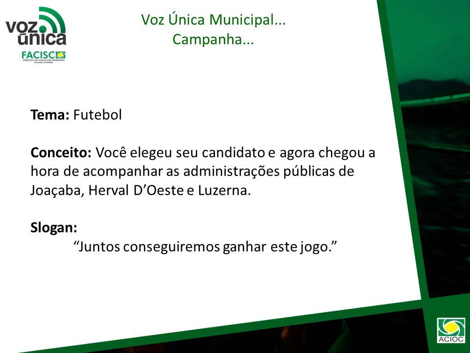 Objetivo: Divulgar Carta Compromissos/Voz Única, fazendo com que todos ajudem a ACIOC a acompanhar as administrações públicas de Joaçaba, Herval DOeste e Luzerna.