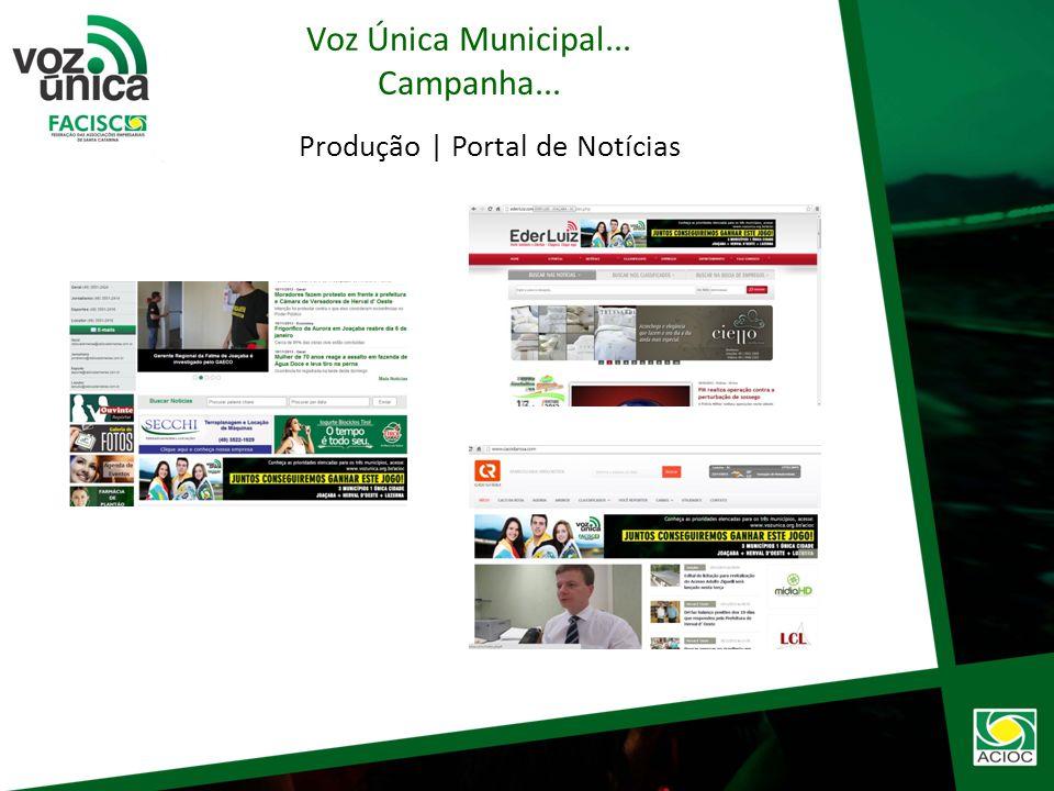Produção | Outdoor Voz Única Municipal... Campanha...
