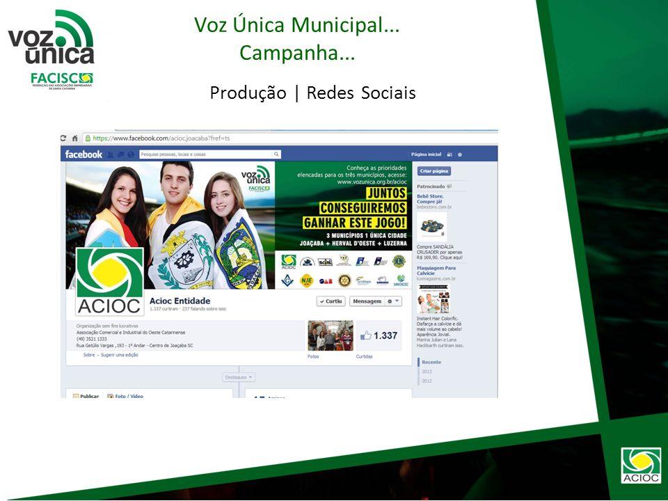Produção | Portal de Notícias Voz Única Municipal... Campanha...