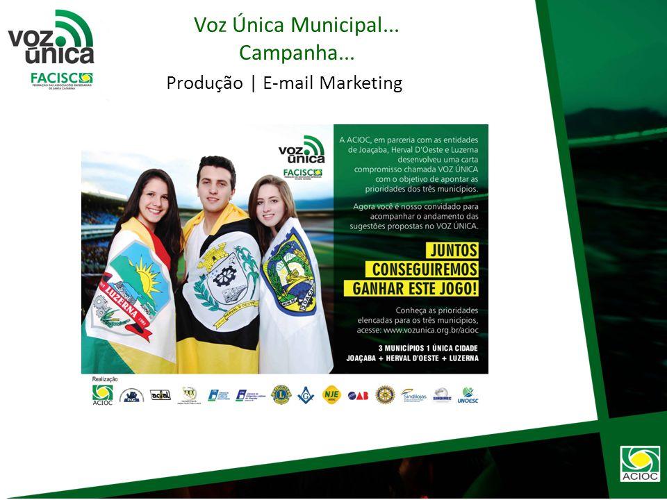 Produção | Redes Sociais Voz Única Municipal... Campanha...