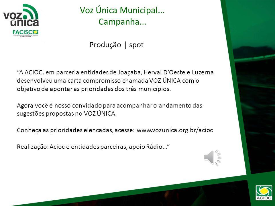Produção | E-mail Marketing Voz Única Municipal... Campanha...