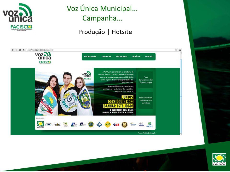 Produção | spot A ACIOC, em parceria entidades de Joaçaba, Herval DOeste e Luzerna desenvolveu uma carta compromisso chamada VOZ ÚNICA com o objetivo