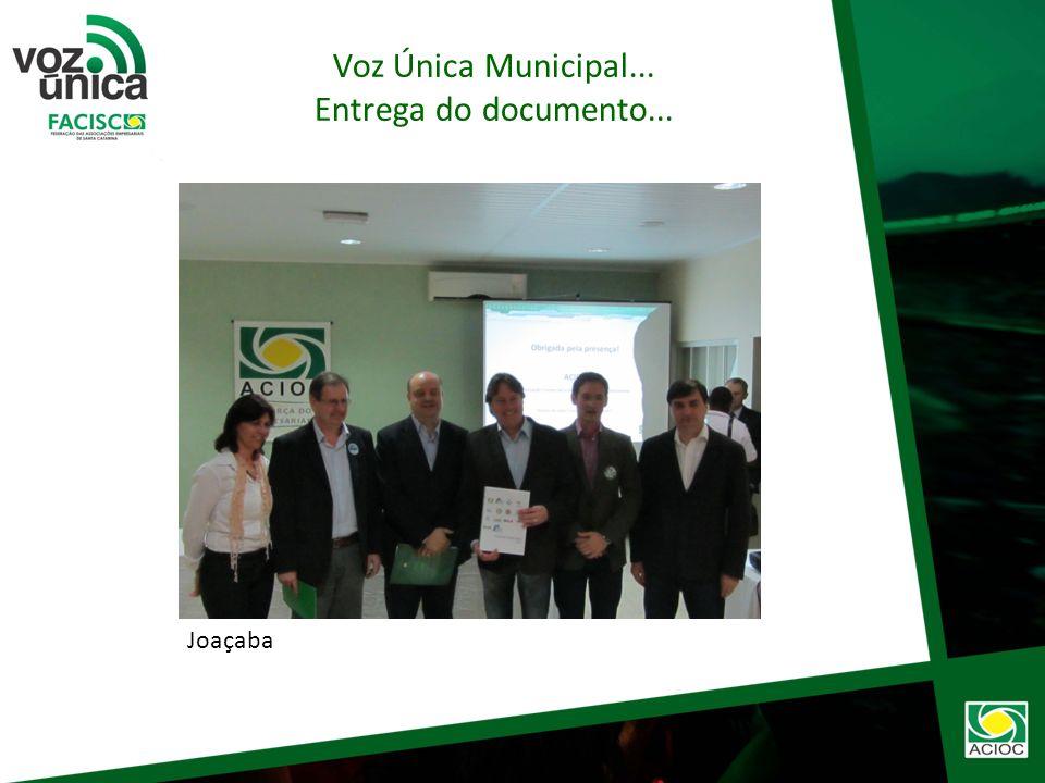 Nos dias 24 e 27 de agosto foi entregue a carta compromisso/Voz Única oficialmente e apresentado os itens a comunidade individualmente nos 3 município
