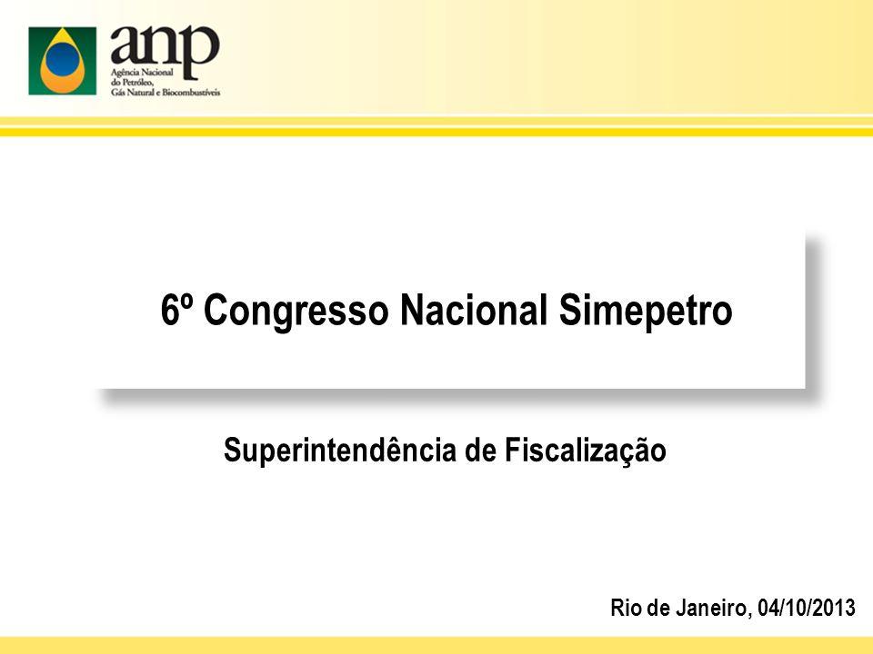 6º Congresso Nacional Simepetro Superintendência de Fiscalização Rio de Janeiro, 04/10/2013