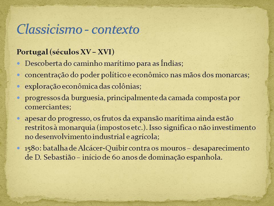 Portugal (séculos XV – XVI) Descoberta do caminho marítimo para as Índias; concentração do poder político e econômico nas mãos dos monarcas; exploraçã