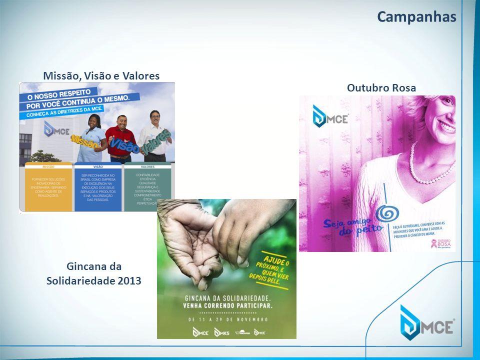 Missão, Visão e Valores Campanhas Outubro Rosa Gincana da Solidariedade 2013