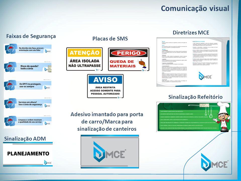 Faixas de Segurança Comunicação visual Placas de SMS Sinalização ADM Sinalização Refeitório Diretrizes MCE Adesivo imantado para porta de carro/Marca
