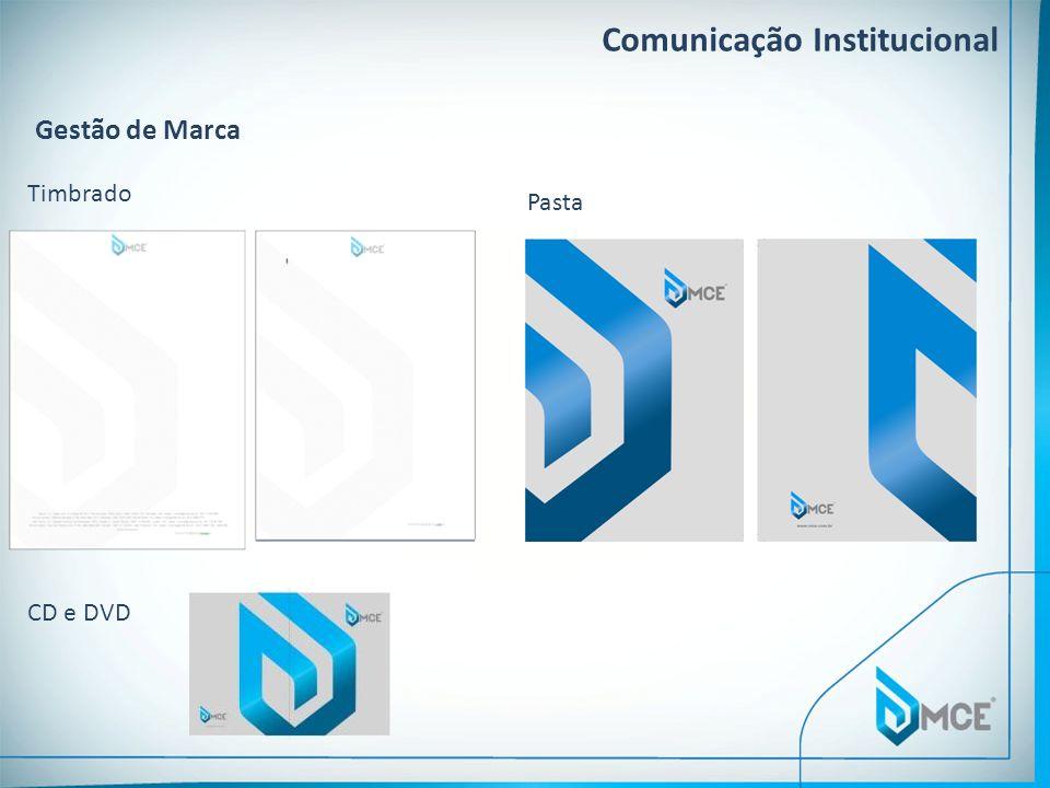 Comunicação Institucional Gestão de Marca Timbrado Pasta CD e DVD