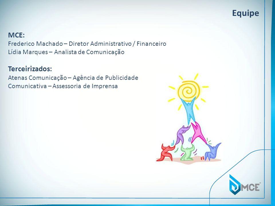 MCE: Frederico Machado – Diretor Administrativo / Financeiro Lídia Marques – Analista de Comunicação Terceirizados: Atenas Comunicação – Agência de Pu