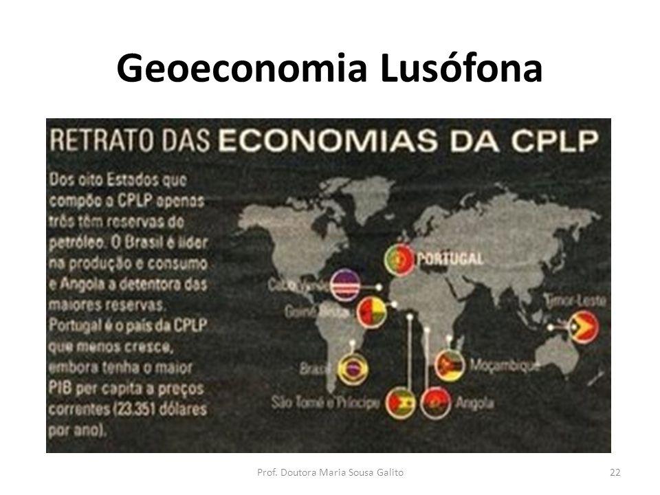 Geoeconomia Lusófona 22Prof. Doutora Maria Sousa Galito