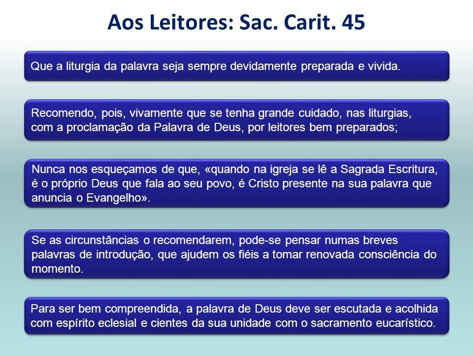 Alguns documentos importantes de referência para a Liturgia BENTO XVI, Ex.