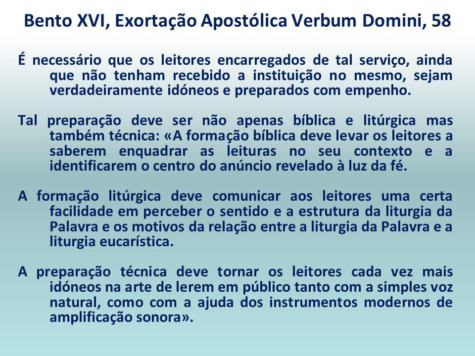Que a liturgia da palavra seja sempre devidamente preparada e vivida. Recomendo, pois, vivamente que se tenha grande cuidado, nas liturgias, com a pro