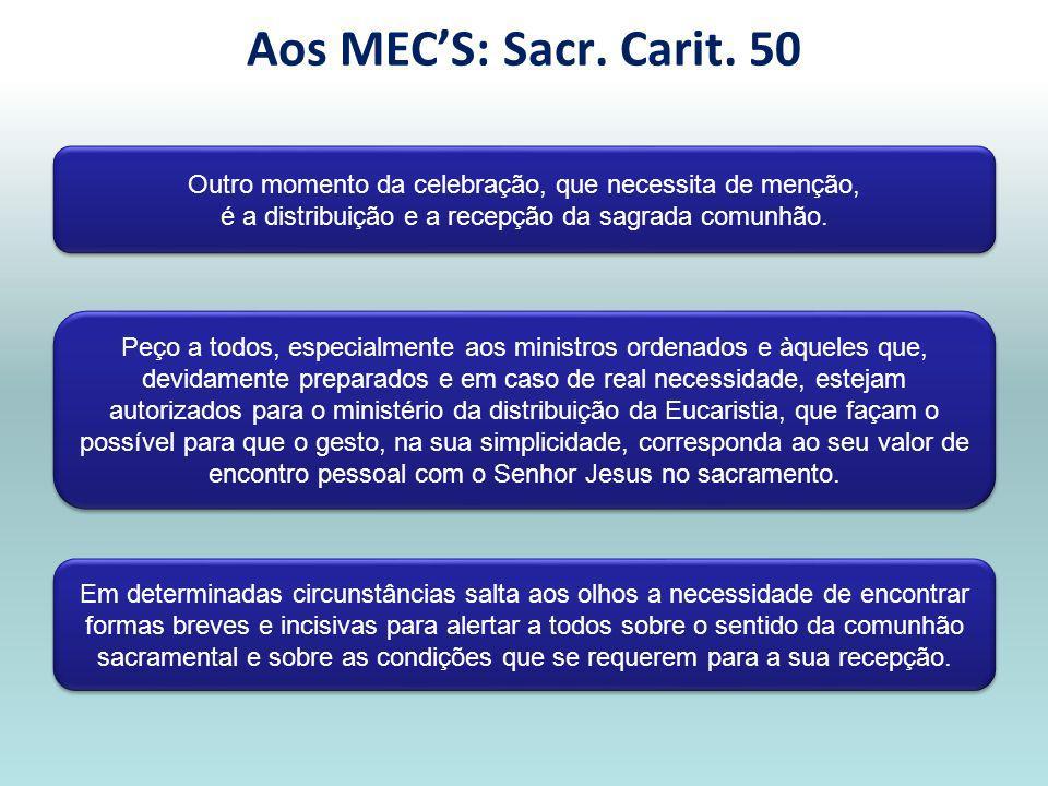 «A apresentação das oferendas não é um intervalo entre a Liturgia da Palavra e a Liturgia Eucarística» (Sacr.