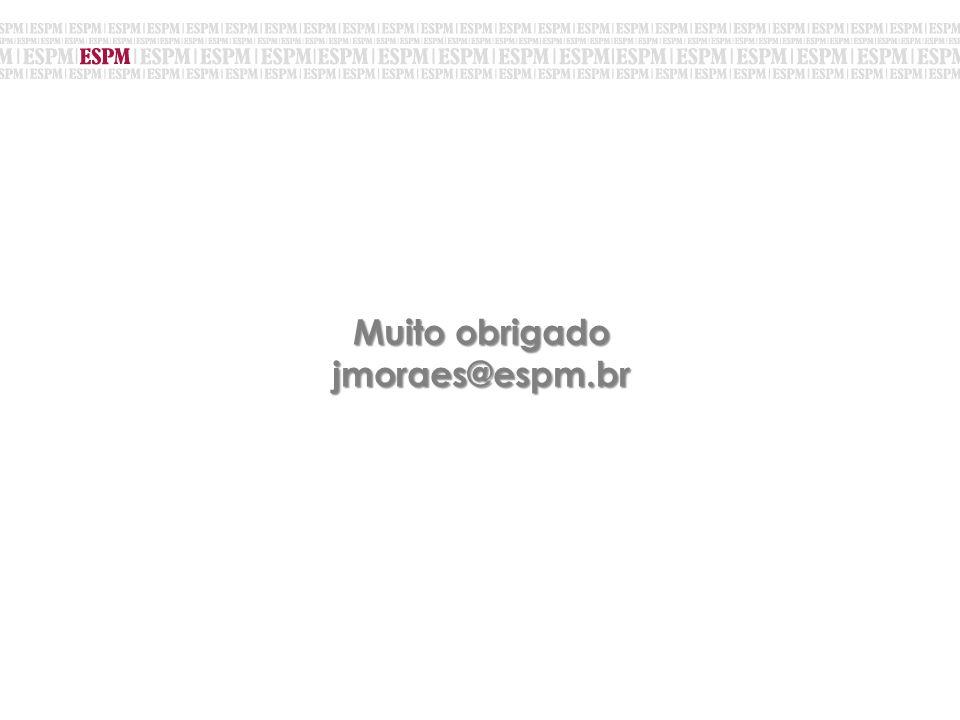 Muito obrigado jmoraes@espm.br