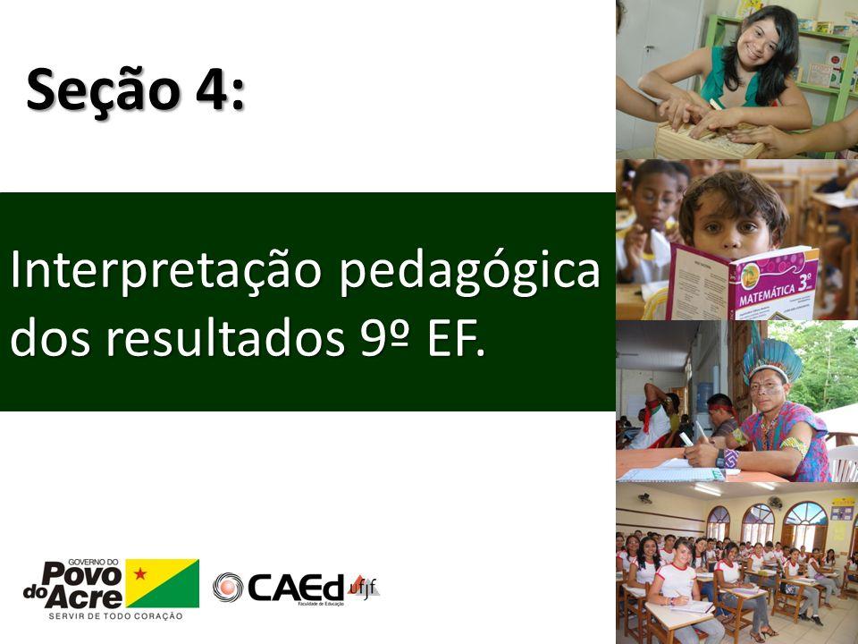 Interpretação pedagógica dos resultados 9º EF. Seção 4: