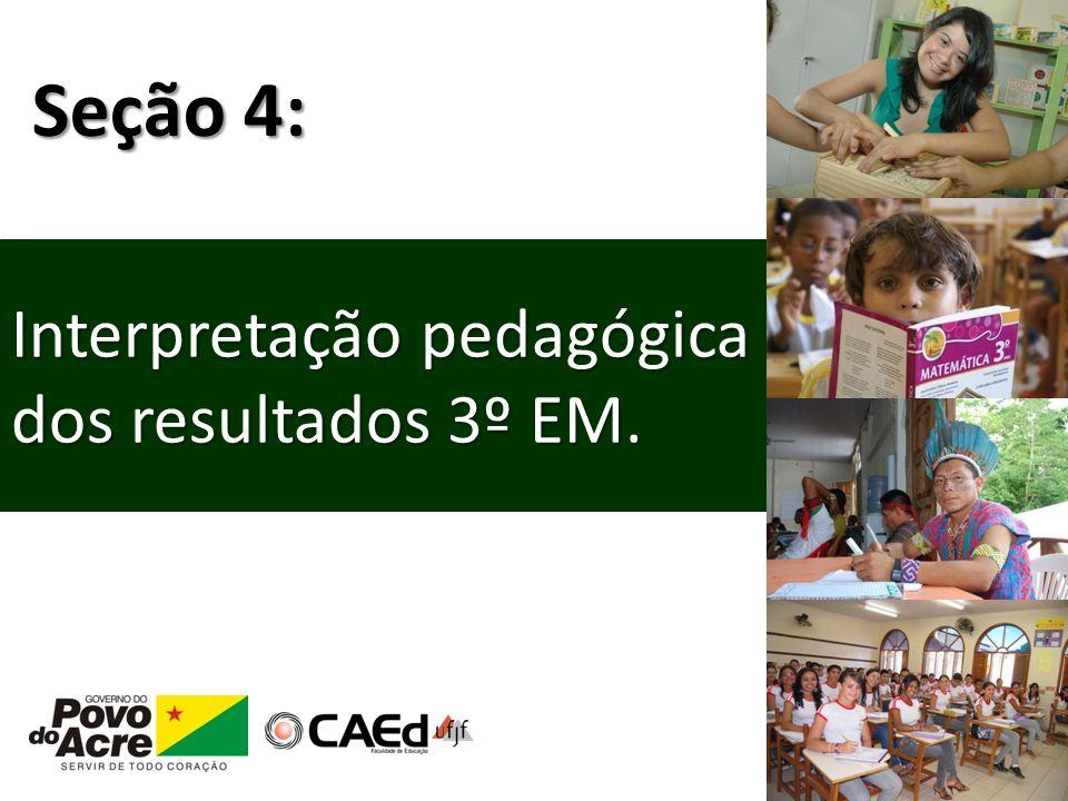 Interpretação pedagógica dos resultados 3º EM. Seção 4:
