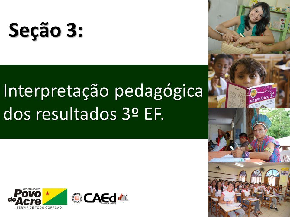 Interpretação pedagógica dos resultados 3º EF. Seção 3:
