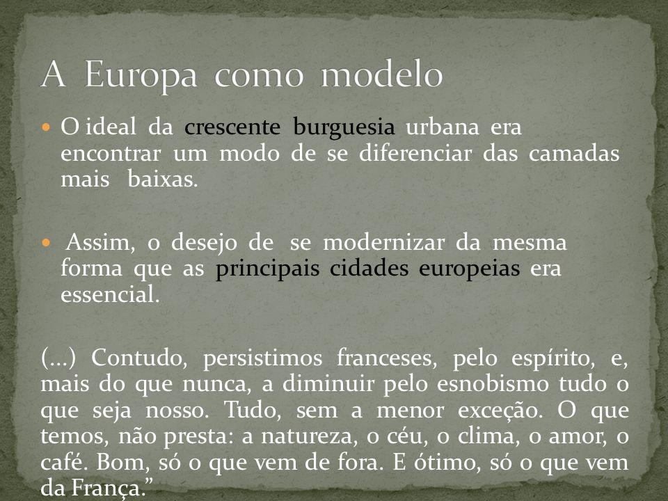 O Rio de Janeiro como capital do Brasil deveria sofrer uma grande mudança para atrair investimentos estrangeiros.