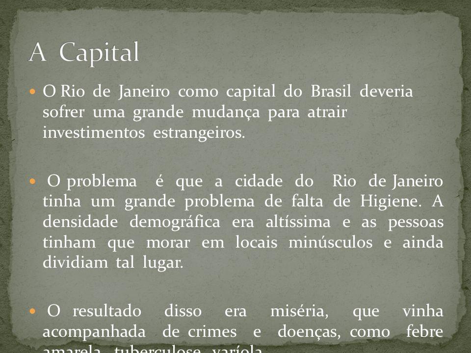 O Rio de Janeiro como capital do Brasil deveria sofrer uma grande mudança para atrair investimentos estrangeiros. O problema é que a cidade do Rio de