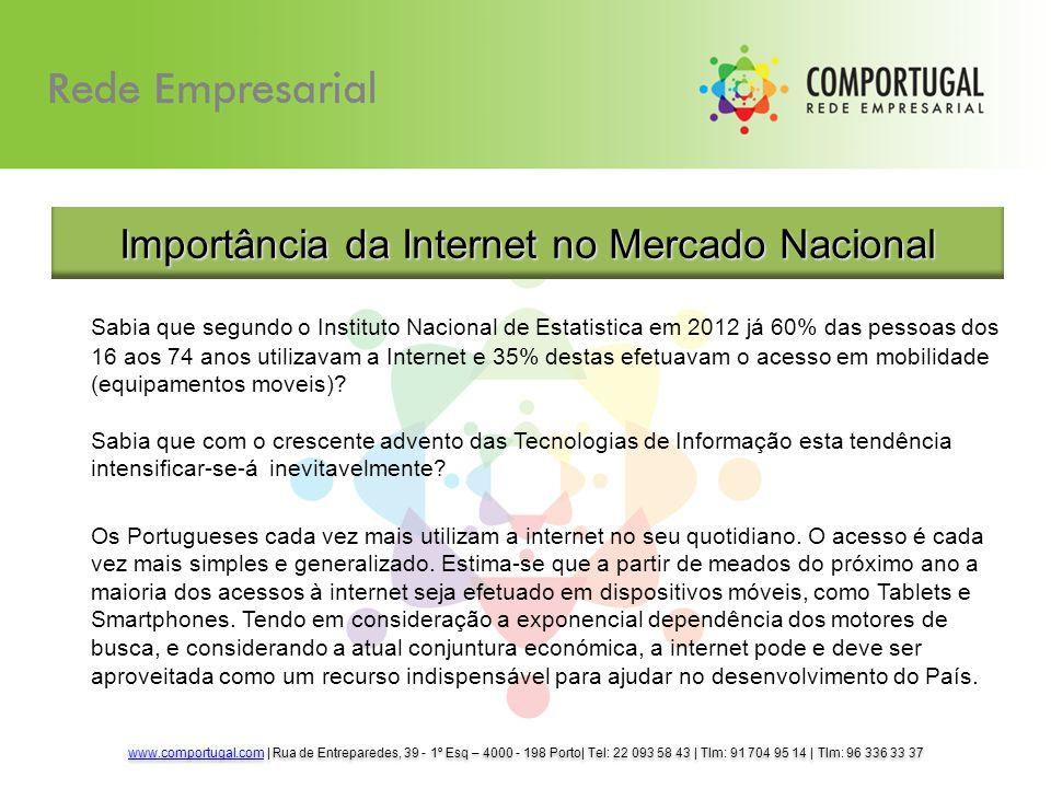Sabia que segundo o Instituto Nacional de Estatistica em 2012 já 60% das pessoas dos 16 aos 74 anos utilizavam a Internet e 35% destas efetuavam o ace
