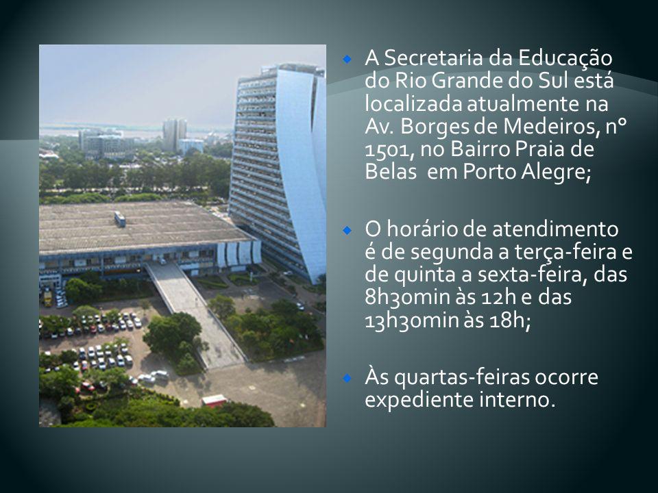 A Secretaria da Educação do RS tem uma estrutura que conta com 30 coordenadorias regionais, controladas diretamente pelo governo do Estado.