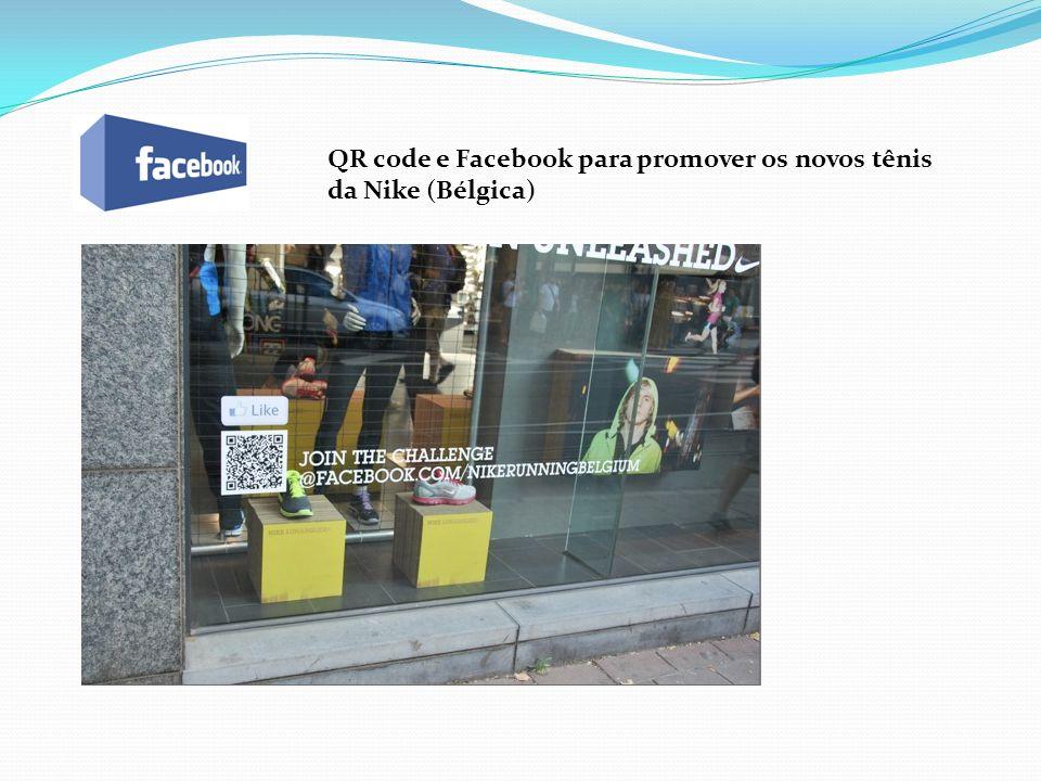 QR code e Facebook para promover os novos tênis da Nike (Bélgica)