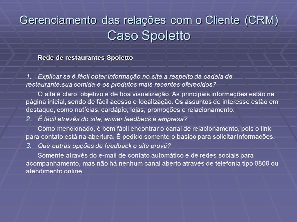 Rede de restaurantes Spoletto 1.1.