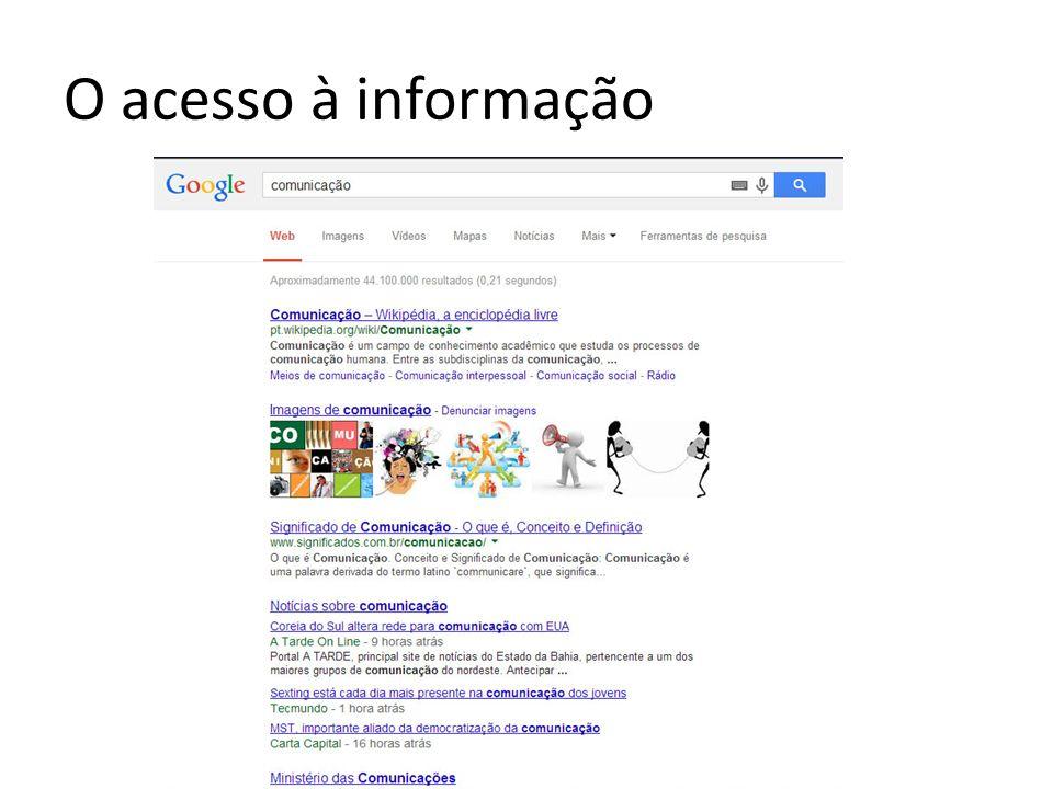 O acesso à informação