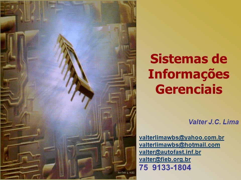 Sistemas de Informações Gerenciais Valter J.C. Lima valterlimawbs@yahoo.com.br valterlimawbs@hotmail.com valter@autofast.inf.br valter@fieb.org.br 75